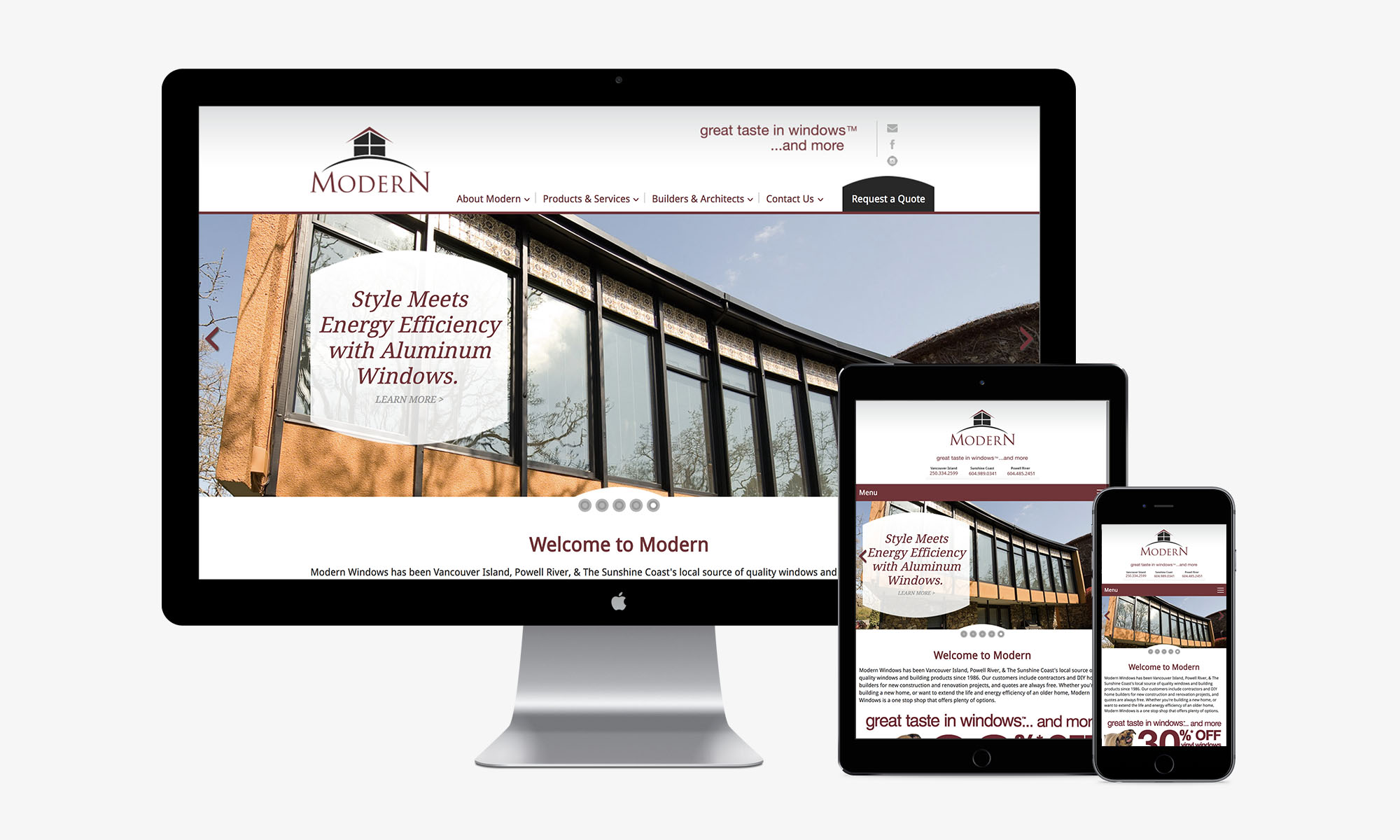 Modern Windows responsive web design by Better Mousetrap Marketing