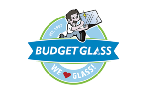 Budget Glass logo and branding portfolio