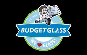 Budget Glass logo and branding portfolio