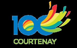 Courtenay Centennial logo and branding portfolio