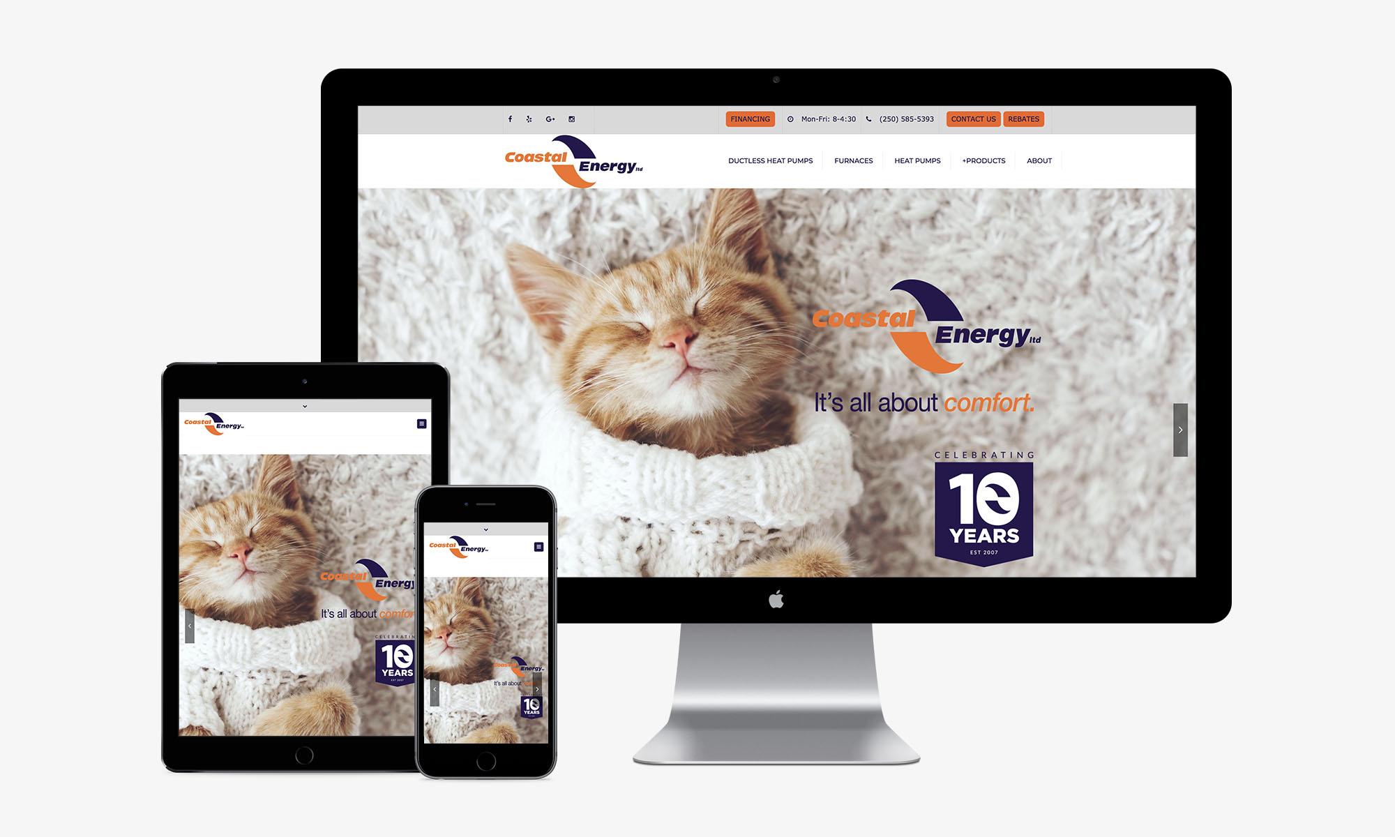 Coastal Energy responsive web design by Better Mousetrap Marketing