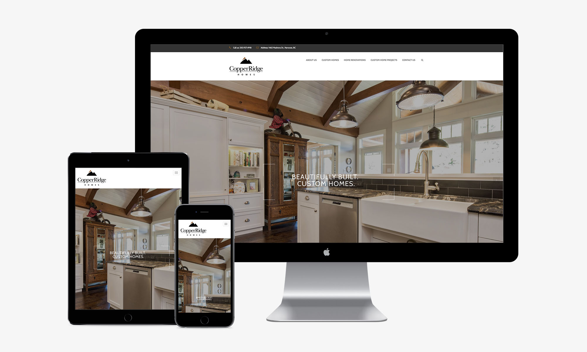 Copper Ridge Homes responsive web design by Better Mousetrap Marketing