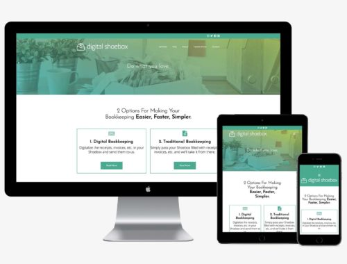 Digital Shoebox responsive web design by Better Mousetrap Marketing
