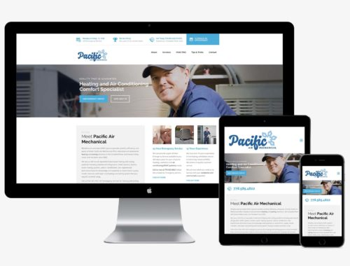 Pacific Air Mechanical responsive web design by Better Mousetrap Marketing