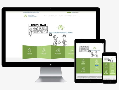 Reed Family Wellness Centre responsive web design by Better Mousetrap Marketing