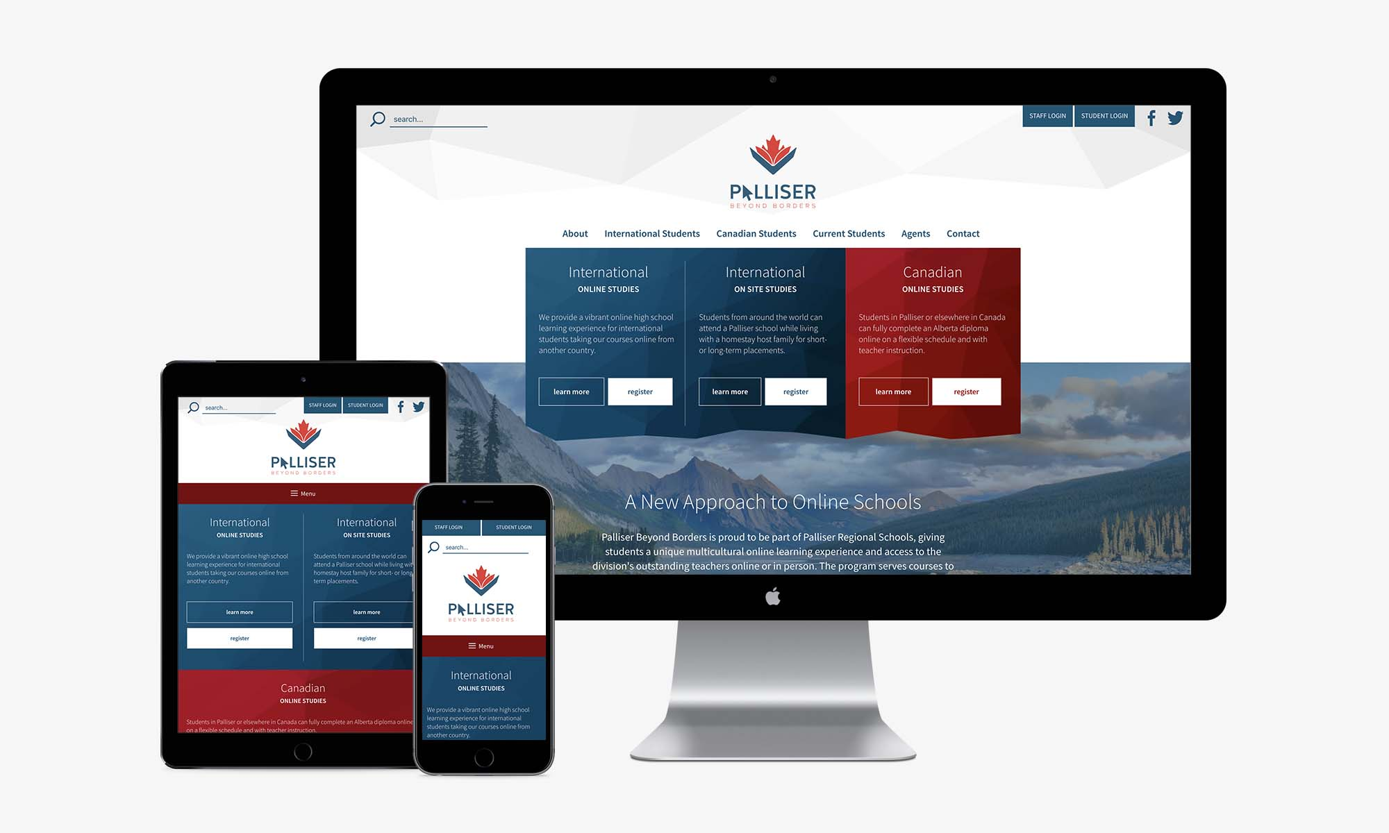 A sample of marketing services provided to Palliser Beyond Borders in Alberta including web design, marketing planning, and advertising campaign.