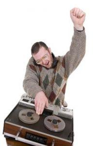 old school nerd in argyle sweater